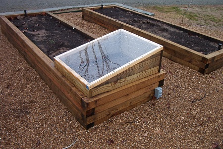 A simple two raised bed garden.
